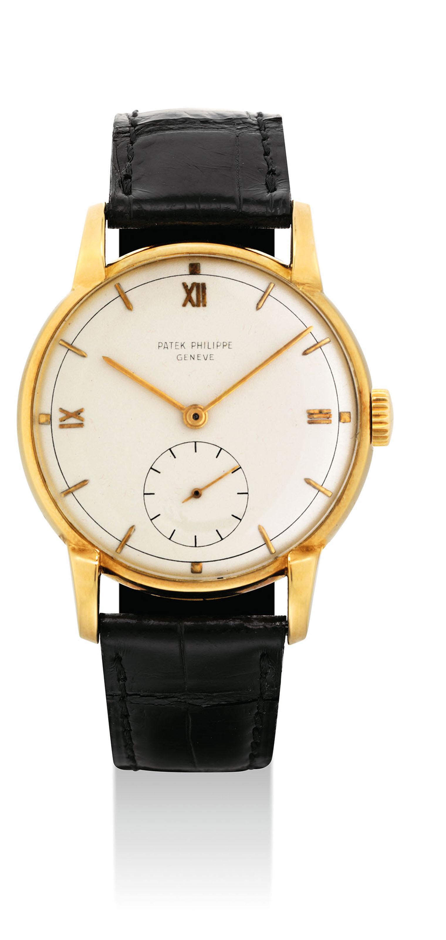Patek philippe a rare 18k gold wristwatch signed patek philippe geneve ref 2430 movement for Patek philippe geneve