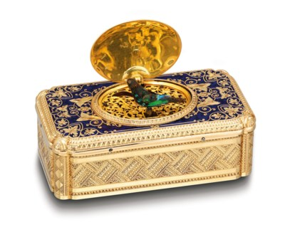 A FINE AND RARE 18K GOLD, ENAM