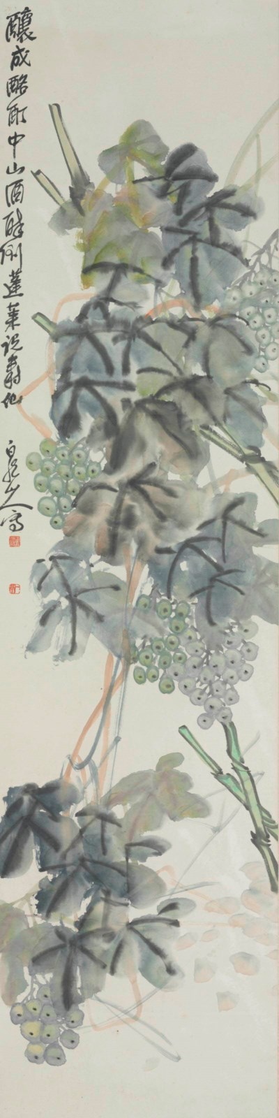 A CHINESE HANGING SCROLL OF GR