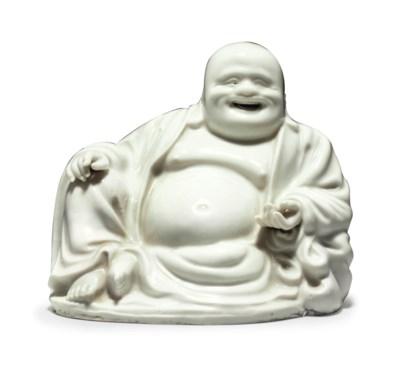 A CHINESE DEHUA FIGURE OF BUDA