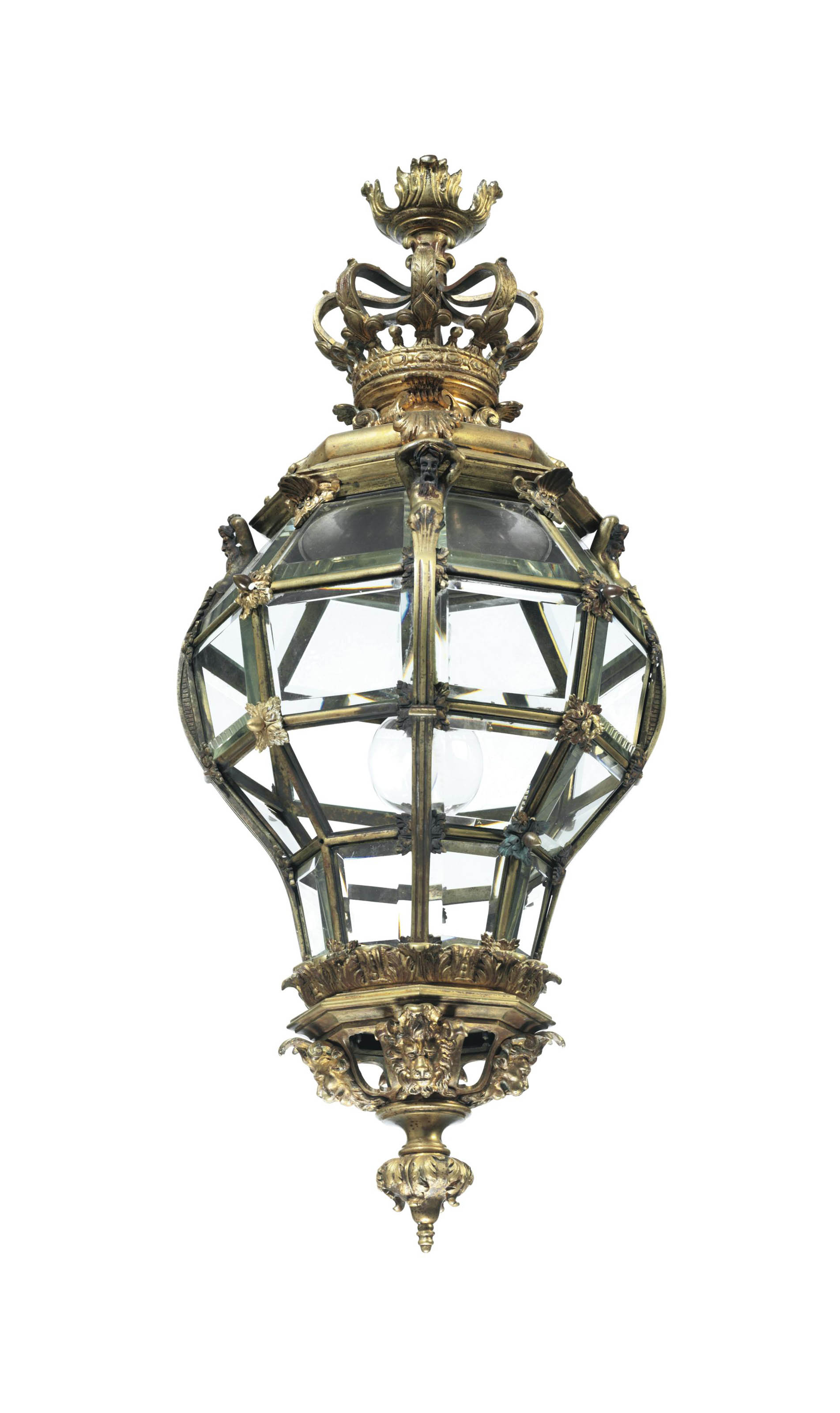 A FRENCH ORMOLU LANTERN,