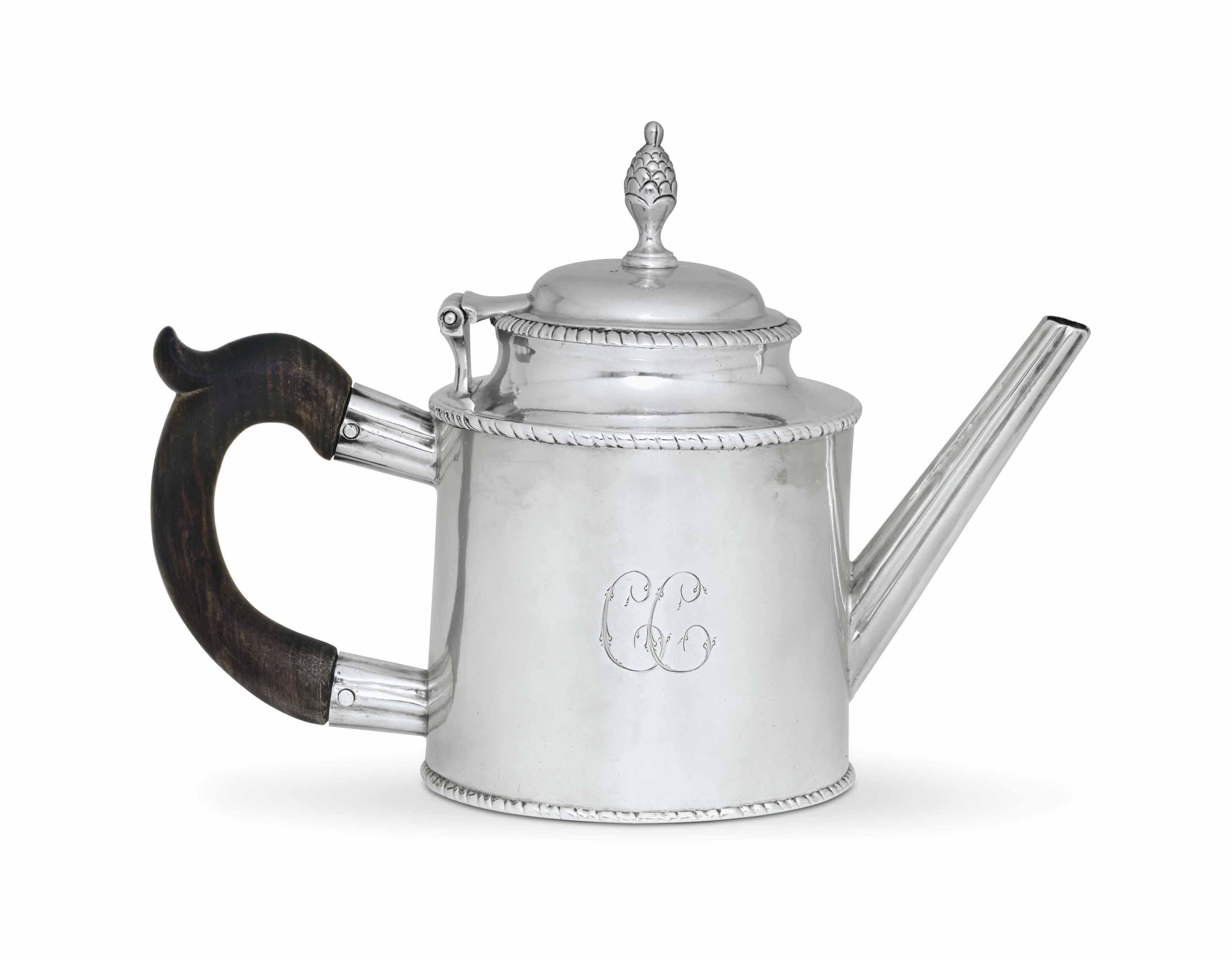A RARE SILVER TEA POT