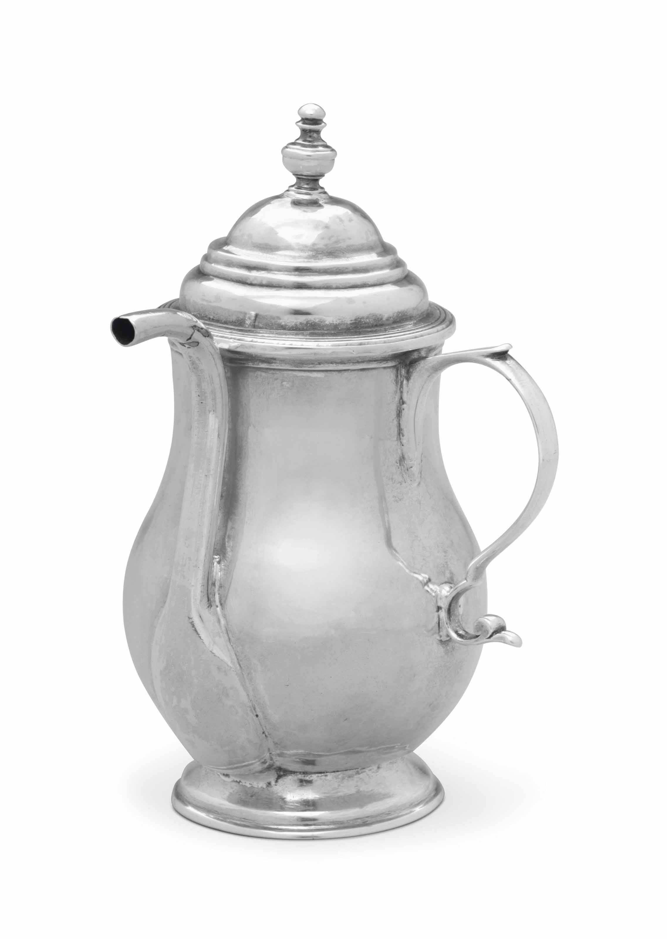 A SILVER SPOUT CUP AND COVER
