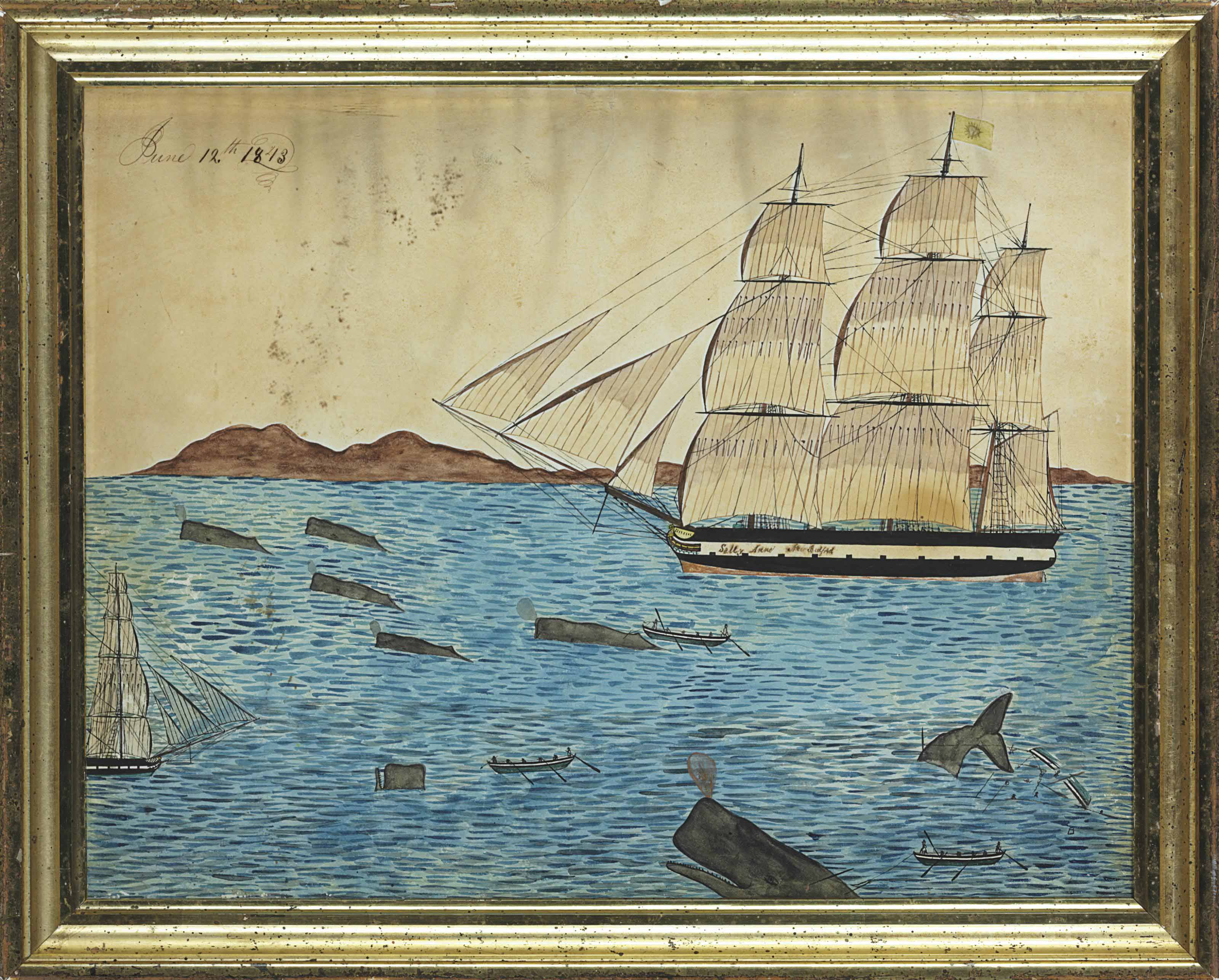 Whaling Scene of the New Bedford ship 'Sally Anne'