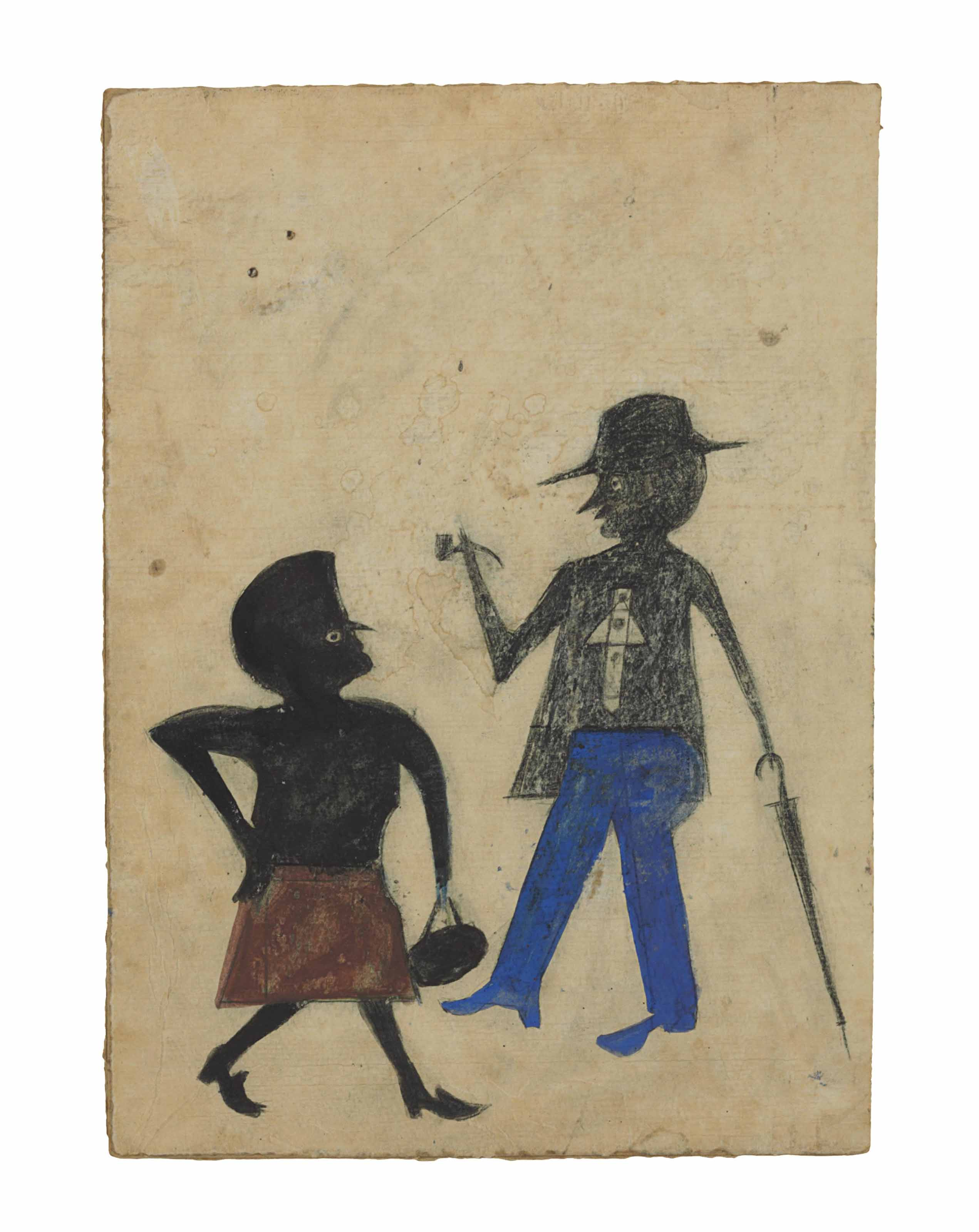 Woman and Man with an Umbrella