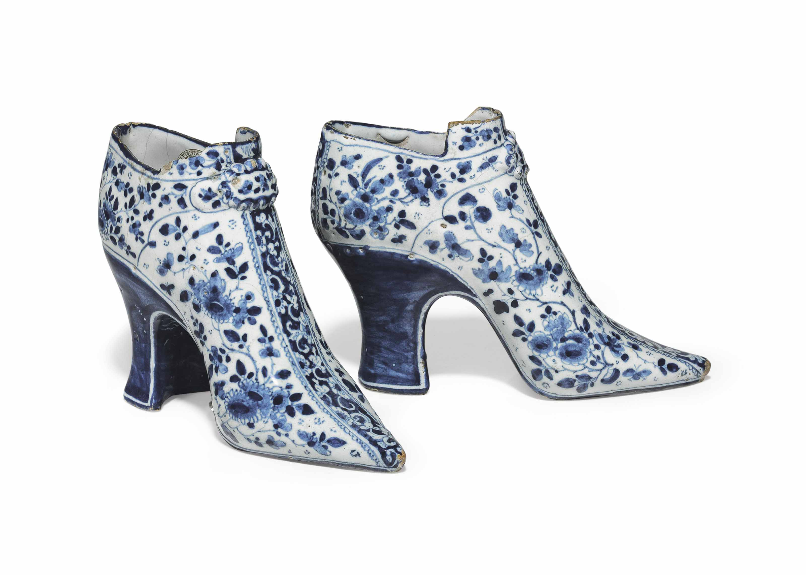 A PAIR OF ENGLISH DELFT DATED
