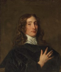 Portrait of a gentleman in black, bust-length