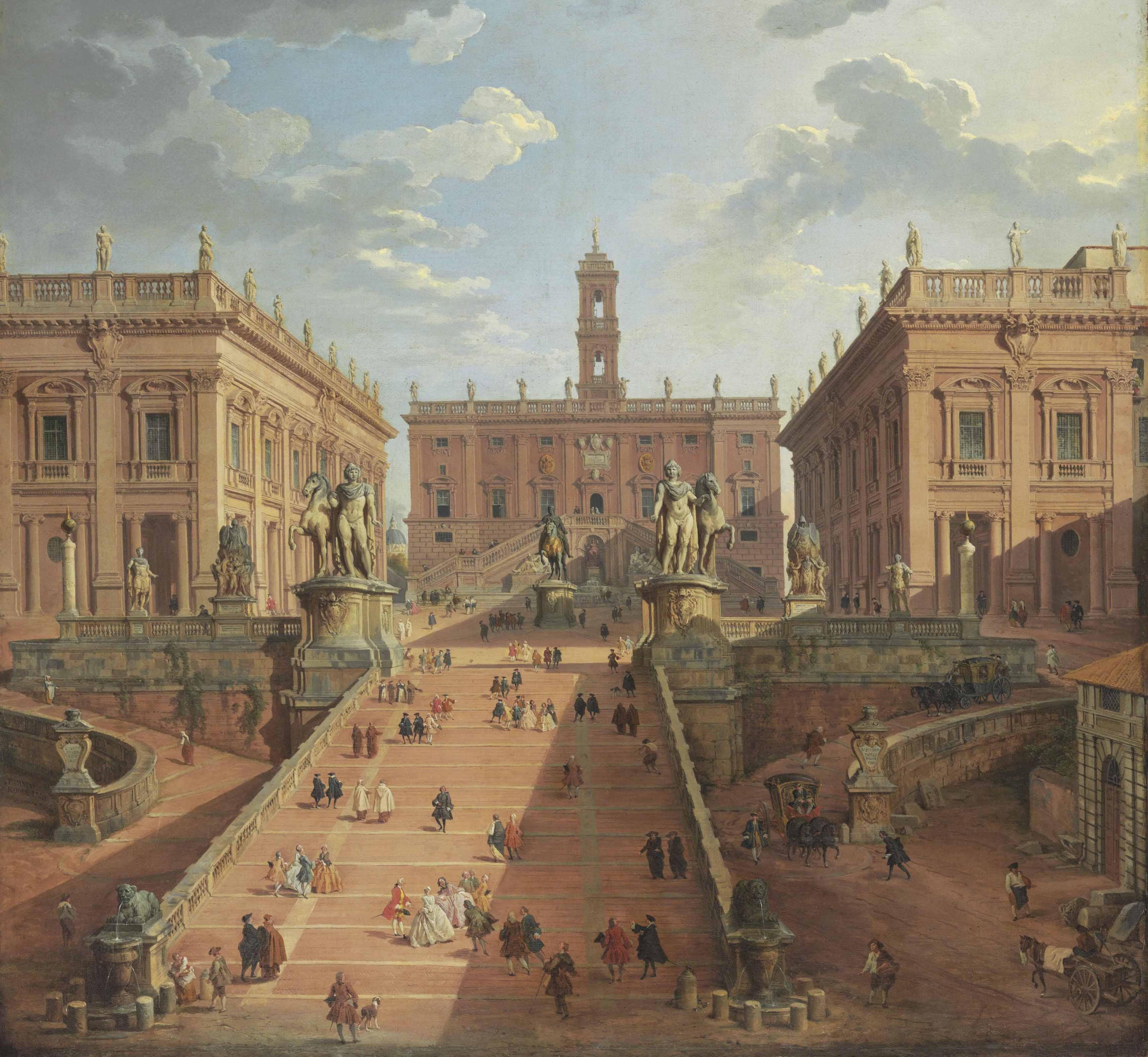 View of the Campidoglio, Rome