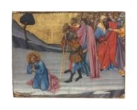 Saints Cosmas and Damian awaiting decapitation