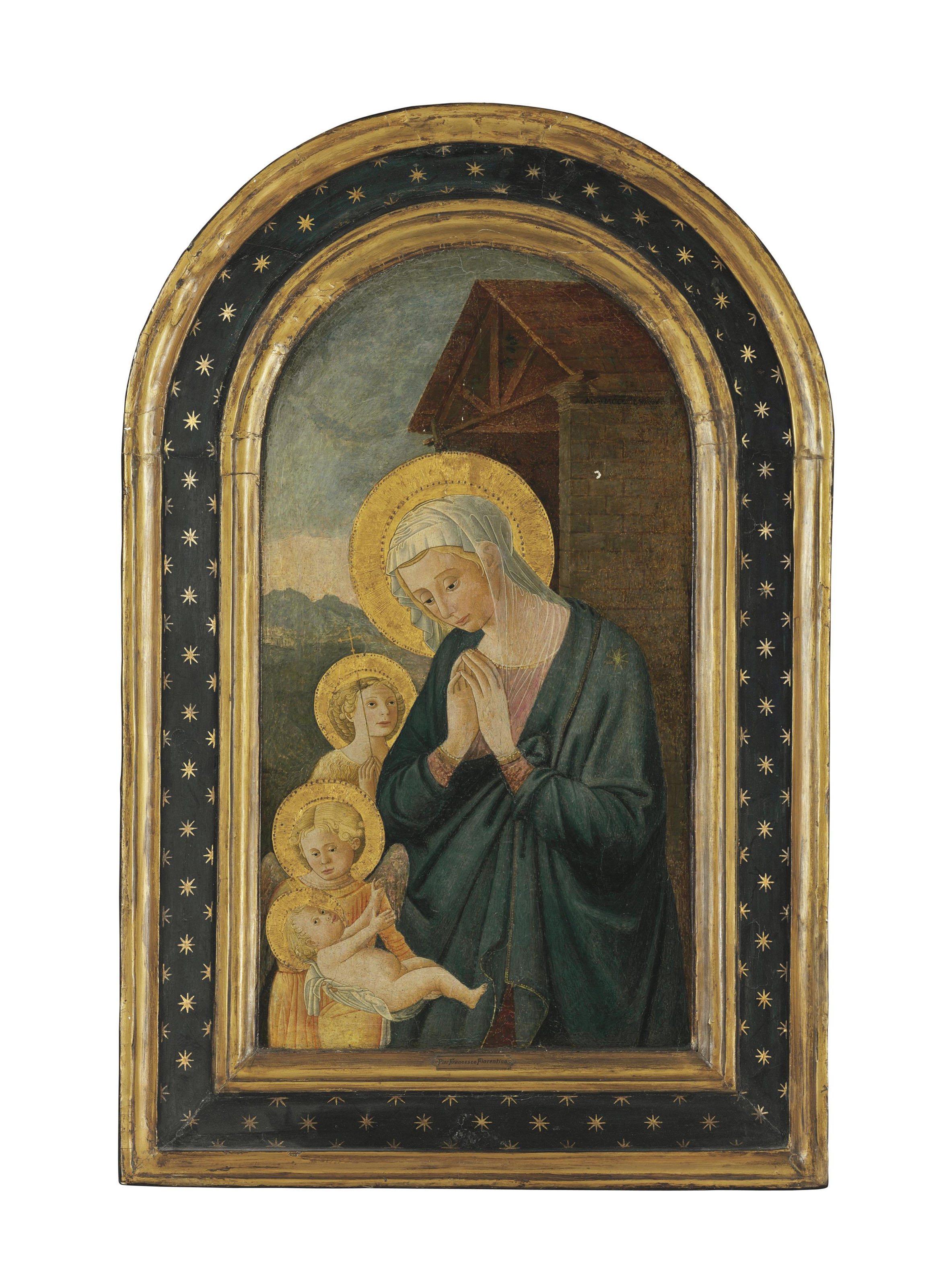 The Madonna and Child with Saint John the Baptist and an angel