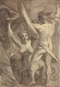 Satan, Sin and Death: 'Death and Sin met by Satan on his Return from Earth'