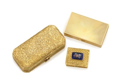TWO GOLD COMPACTS AND A PATCH