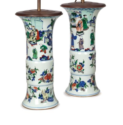 A PAIR OF CHINESE PORCELAIN WU