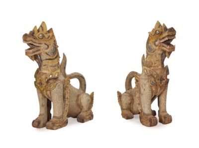A PAIR OF SOUTHEAST ASIAN WOOD