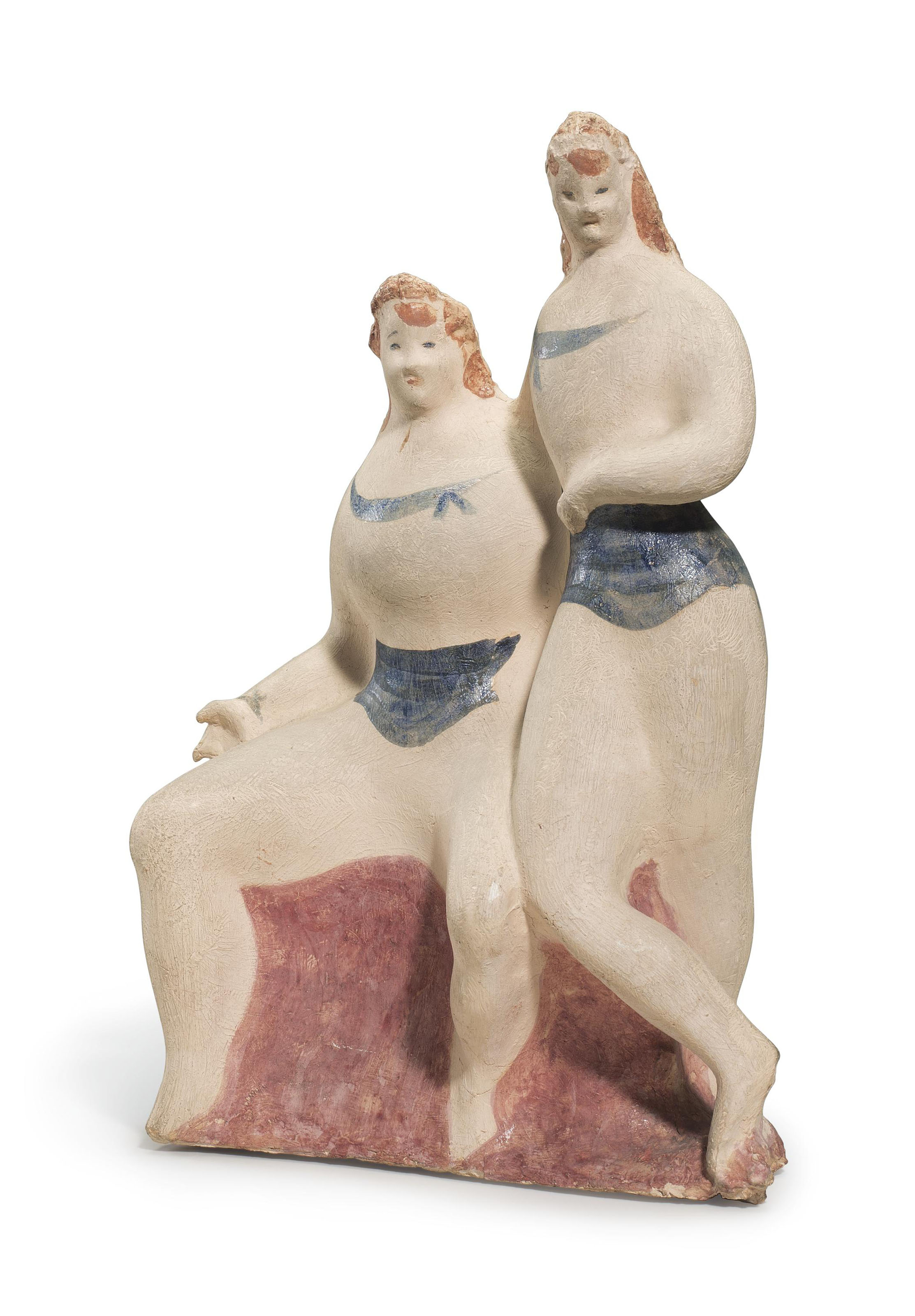 Two Female Figures (Seated and Standing)