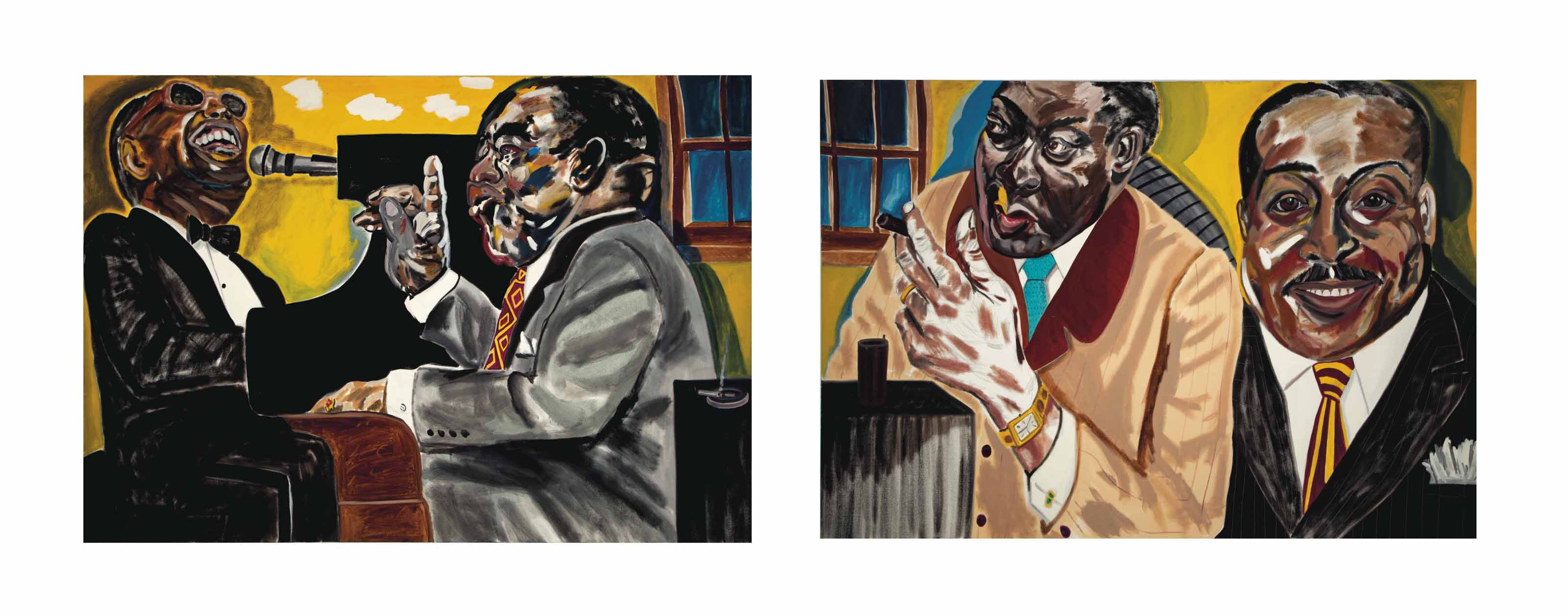The Piano Men (Ray Charles, Roosevelt Skykes, Memphis Slim, Count Basie): a diptych