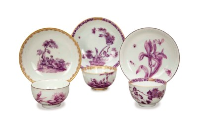 A GROUP OF MEISSEN PORCELAIN '