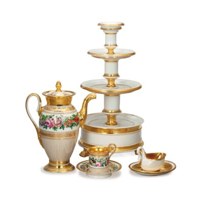 A GROUP OF FRENCH PORCELAIN WA