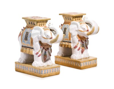 A PAIR OF CHINESE EARTHENWARE