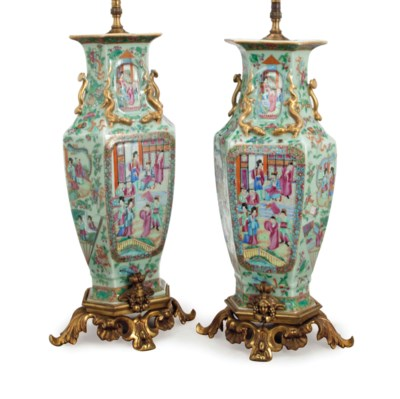 A PAIR OF CHINESE CELADON GROU