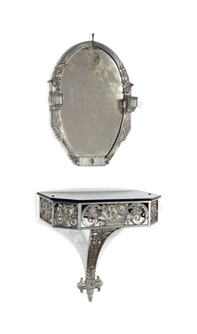 A FRENCH ART DECO ALUMINUM AND