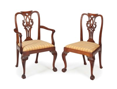 A SET OF EIGHT GEORGE III-STYL