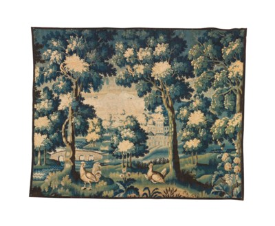 A FLEMISH VERDURE TAPESTRY,