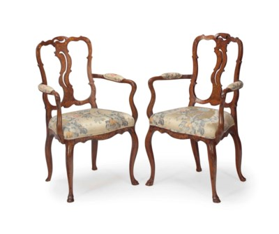 A PAIR OF DUTCH FRUITWOOD AND