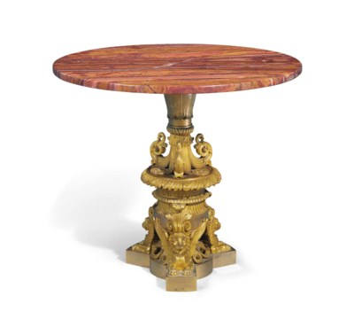 AN EMPIRE ORMOLU LOW TABLE