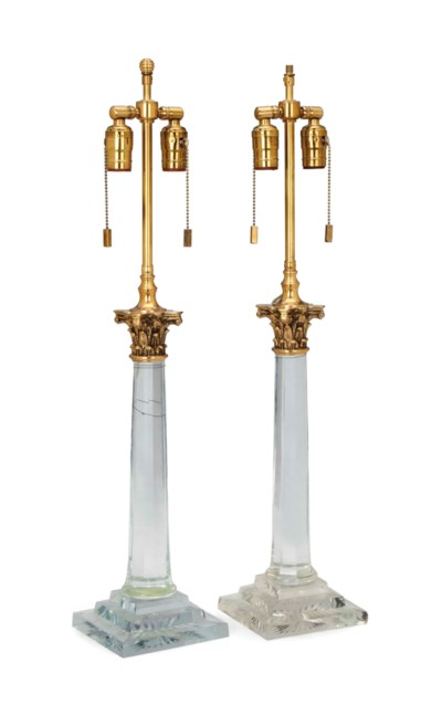 A PAIR OF BRASS-MOUNTED COLORL