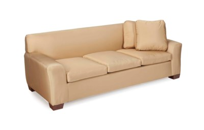 A CHAMPAGNE SILK-UPHOLSTERED T