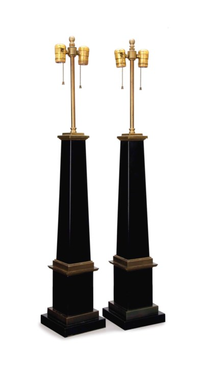 A PAIR OF GILT AND PATINATED M