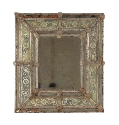 A VENETIAN MOLDED AND ETCHED-G