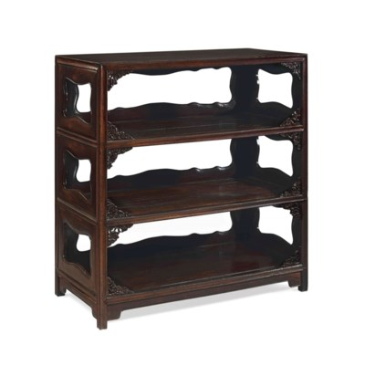 A CHINESE TIELIMU BOOKCASE, SH