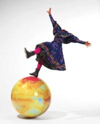 Girl on Globe