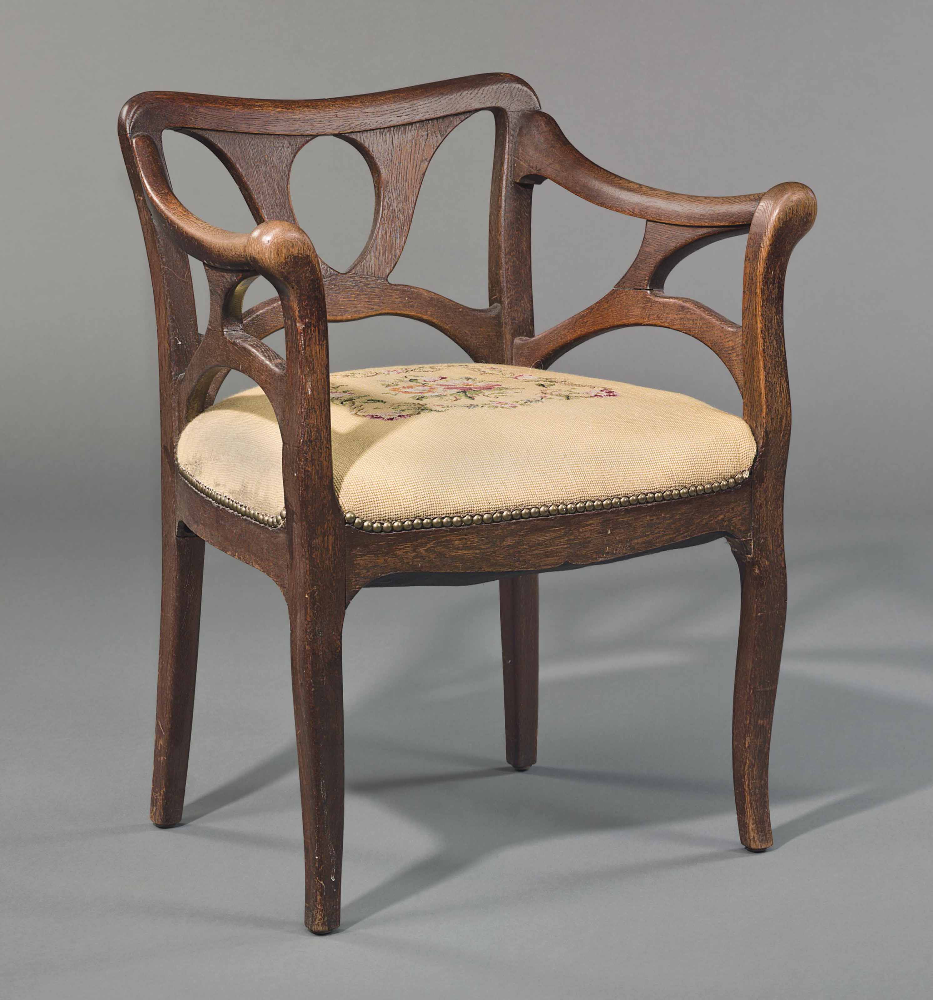 attributed to bernhard pankok 1872 1943 an armchair. Black Bedroom Furniture Sets. Home Design Ideas