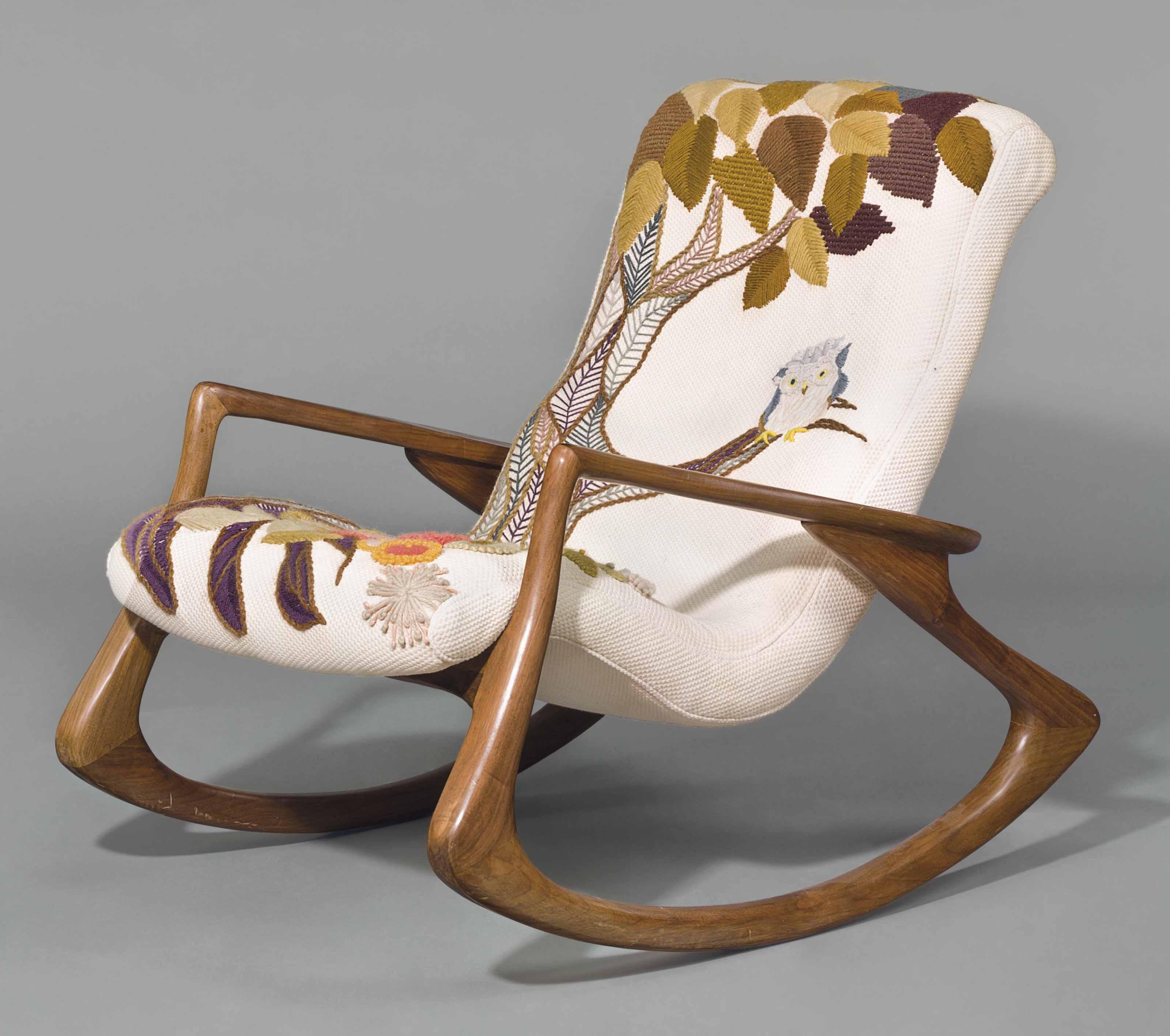 Vladimir Kagan B 1927 A Rocking Chair Circa 1955