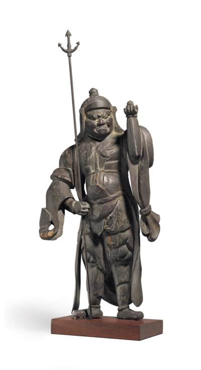A wood figure of Vaisravana (B