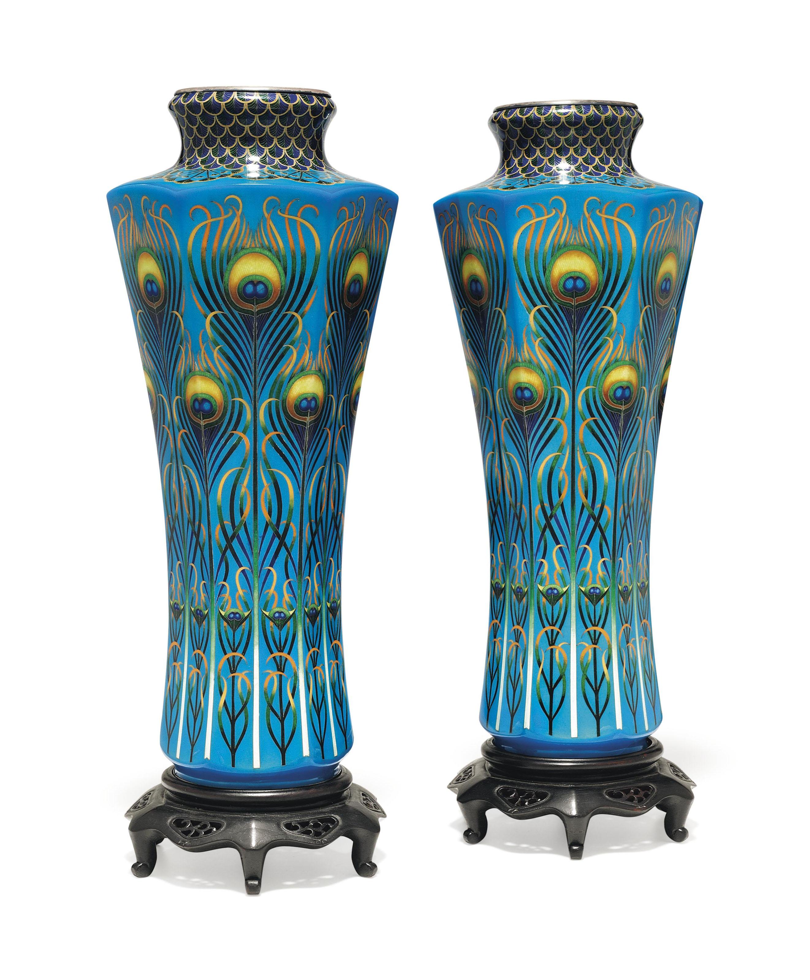 A pair of cloisonné enamel vases | MEIJI PERIOD (CIRCA 1900), INLAID ...