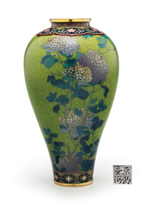 A cloisonné enamel vase