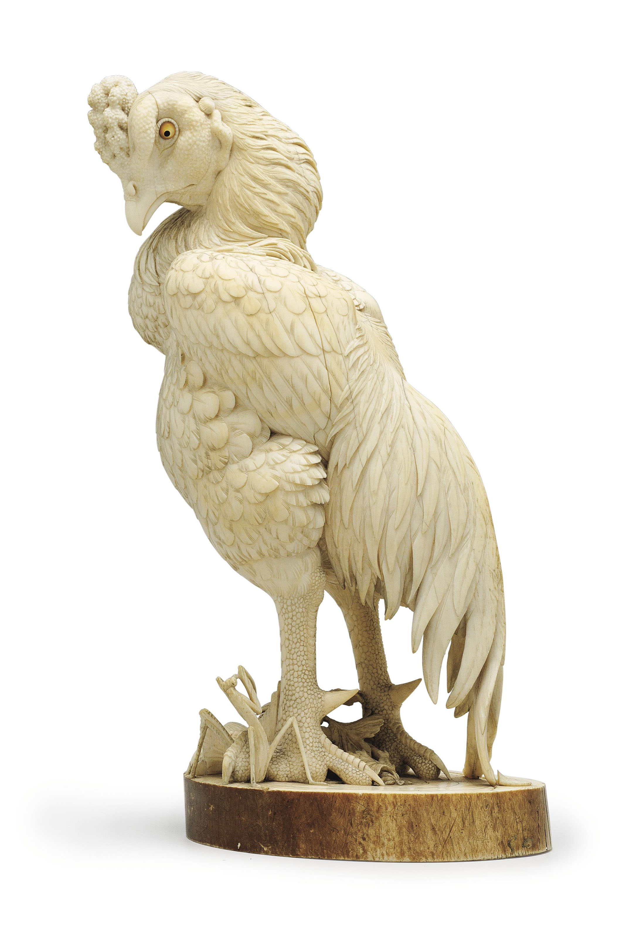 An ivory model of a fighting r