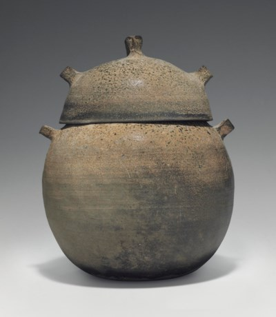 An Ash-Glazed Stoneware Jar an