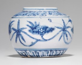 A BLUE AND WHITE CHENGHUA-STYLE JAR
