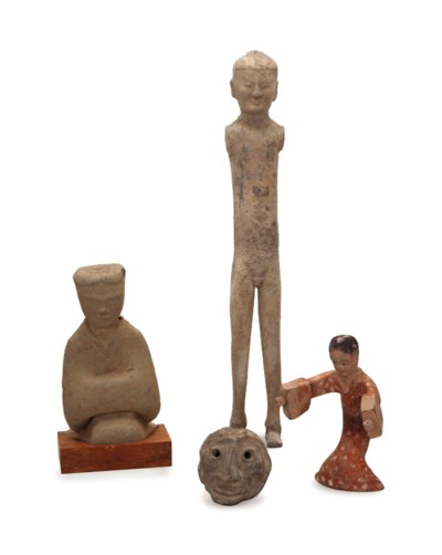 A GROUP OF EARLY CHINESE POTTE
