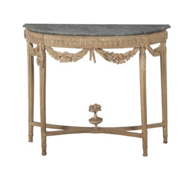 A LOUIS XVI GREY-PAINTED AND M