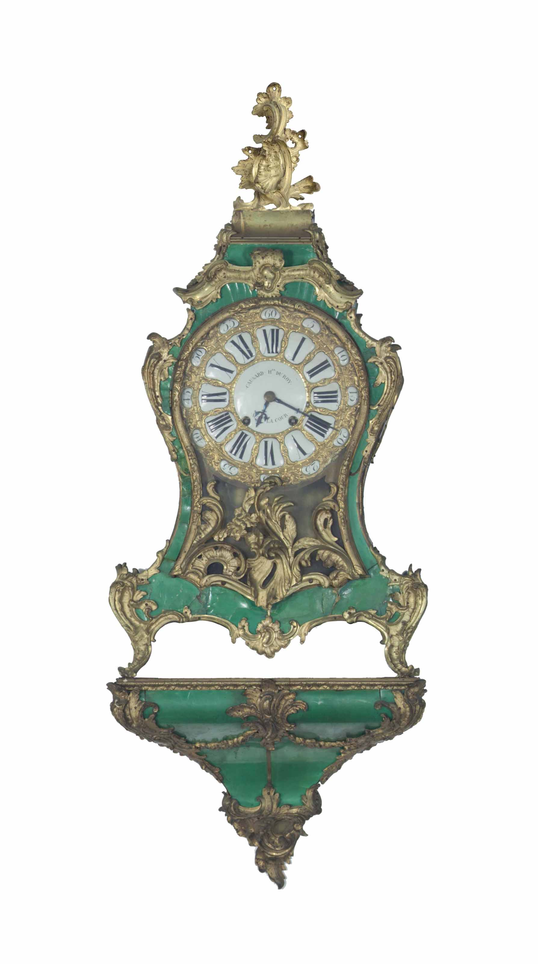 AN EARLY LOUIS XV GREEN STAINE