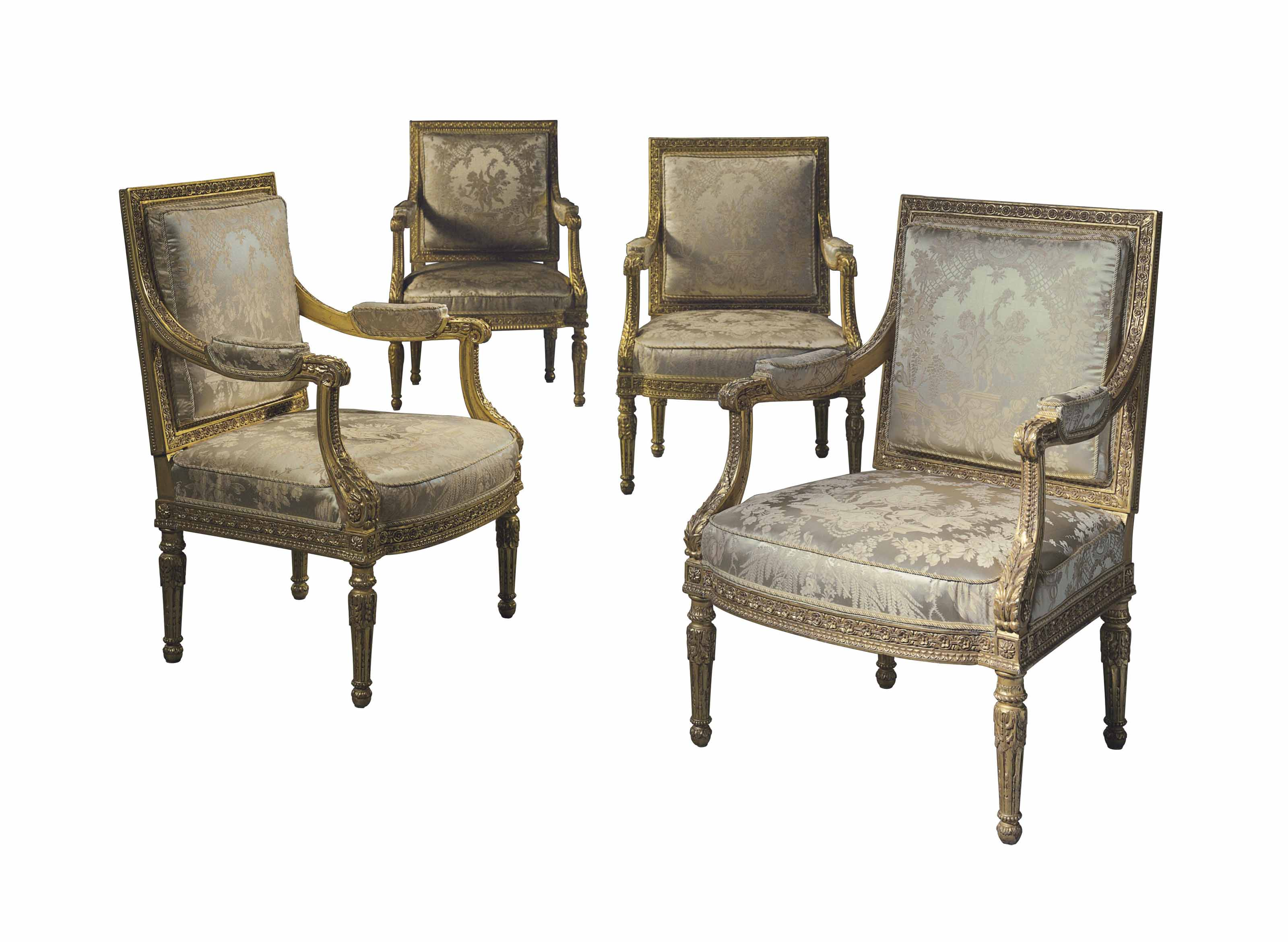 A MATCHED SET OF FOUR LOUIS XV