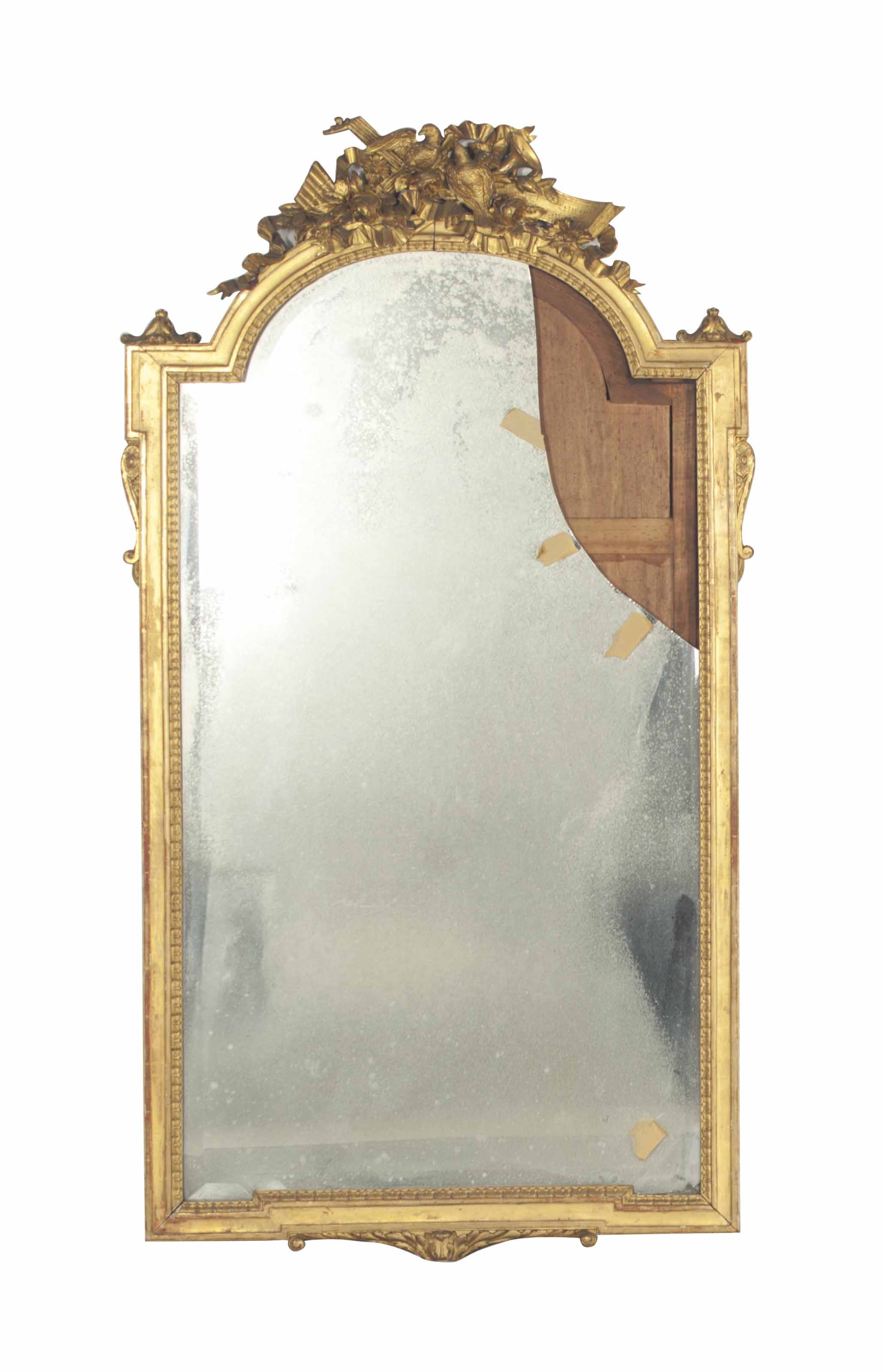 A FRENCH GILTWOOD PIER MIRROR,