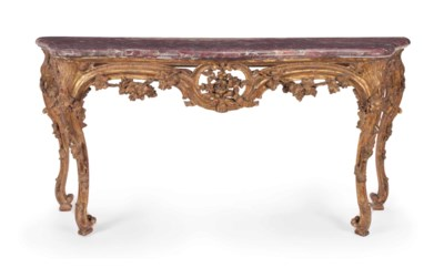 A LOUIS XV STYLE CARVED GILTWO