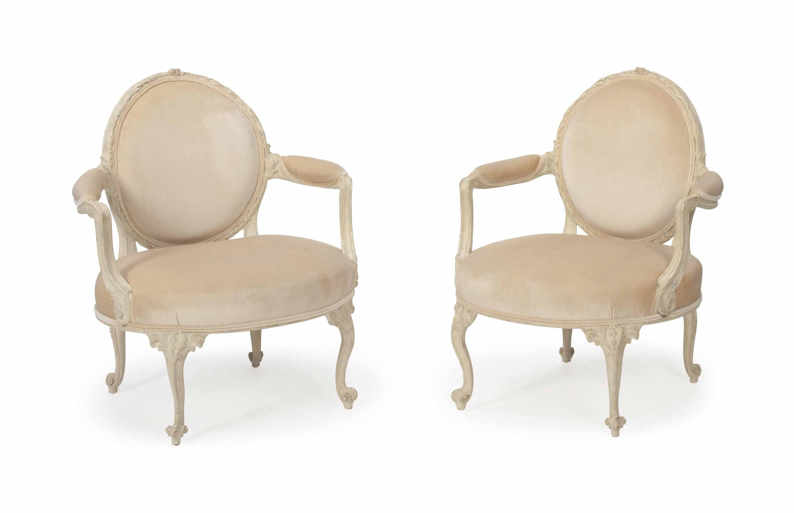 A PAIR OF LOUIS XV STYLE WHITE
